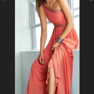 BCBG NWT Daniele Coral Embellished Gown Size 4